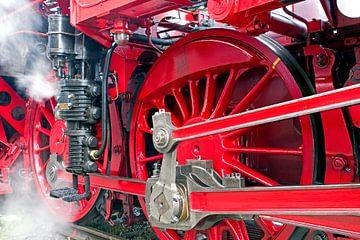 Stoomtrein locomotief detail van Pieter van Marion