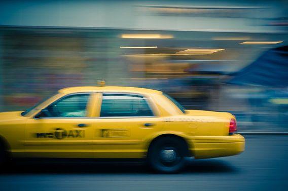 Taxi Jaune de New York van Arnaud Bertrande