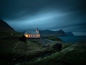De kerk van Viðereiði sur Nando Harmsen