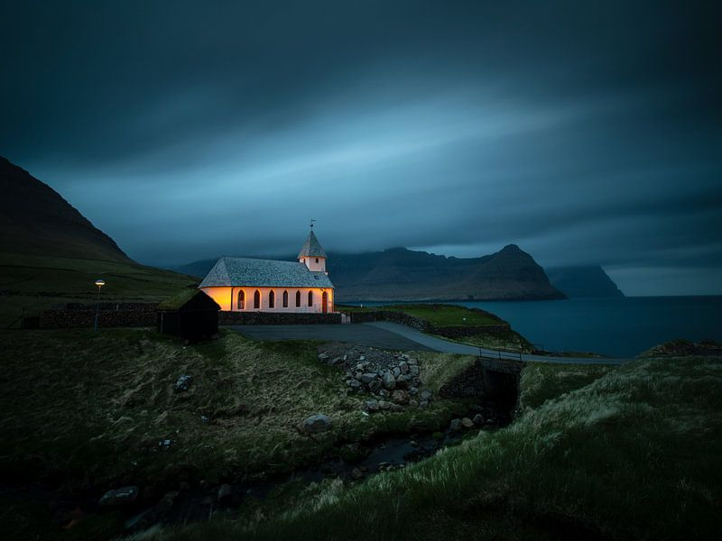 De kerk van Viðereiði van Nando Harmsen