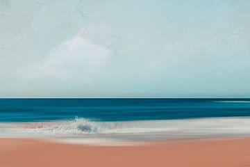 Abstracte strandscène van Dirk Wüstenhagen