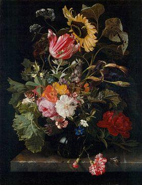 Bouquet de fleurs dans un vase, Maria van Oosterwyck sur