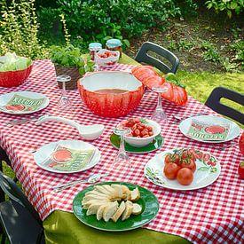 Piccobella servies met tomaten van Christa Thieme-Krus