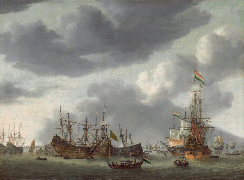 Amsterdamer Hafenszene, Reinier Nooms von Meesterlijcke Meesters