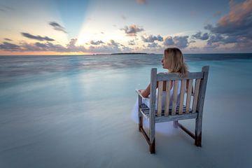 Malediven Sunset van Markus Busch