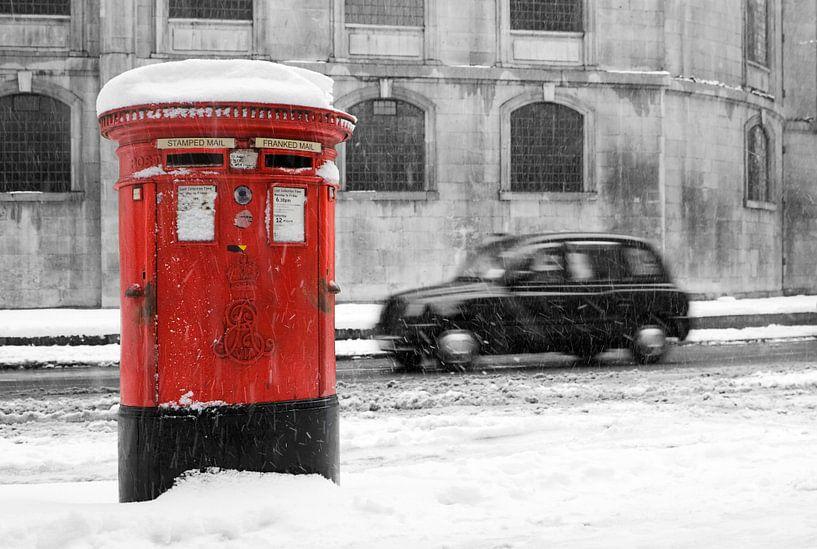 Sneeuw in Londen van David Bleeker