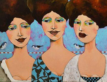 3 dames en  hun vrienden van Eveline van Rooy