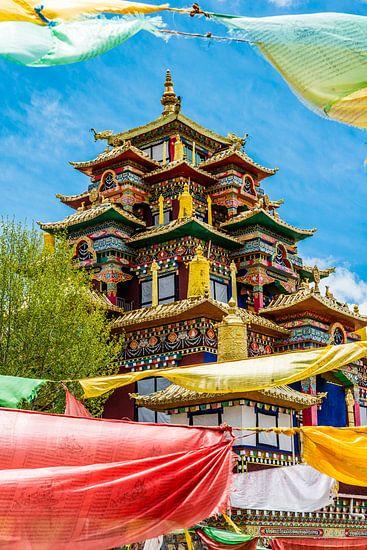 Het Surmang Namgyaltse Monastery in Modron. van Theo Molenaar