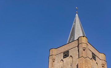 Bovenkant dorpskerk Oostkapelle van Percy's fotografie