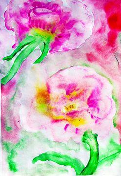 rosa Frühlingsblumen von M.A. Ziehr
