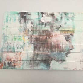 Klantfoto: Angie green van Atelier Paint-Ing, op print op doek