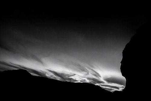 White Desert in Black and White