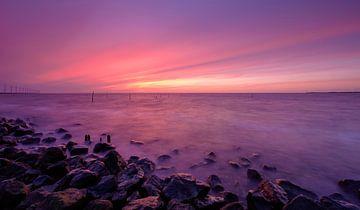 Magische zonsondergang (2) van Koos de Wit