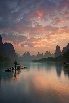Li-Fluss Sonnenaufgang, Yan Zhang von 1x