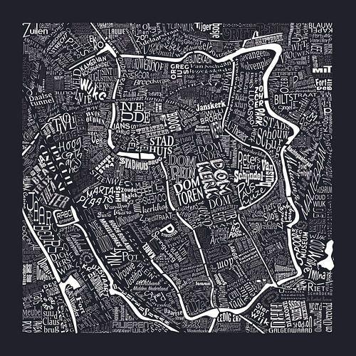 Plattegrond Utrecht in woorden: Uniek beeld van De Domstad van Nederland:  van
