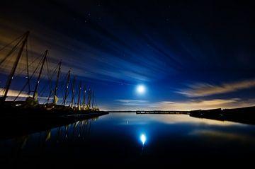 maan + jupiter boven Nieuwkoopse plassen sur Thomas Spaans