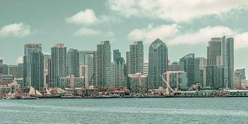 SAN DIEGO SKYLINE Impression von Harbor Island | urbaner Vintage-Stil von Melanie Viola