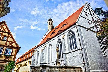Brunnen mit Kirche Rothenburg ob der Tauber von Roith Fotografie