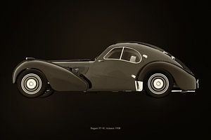 Bugatti 57-SC Atlantic von 1938 S/W-Version