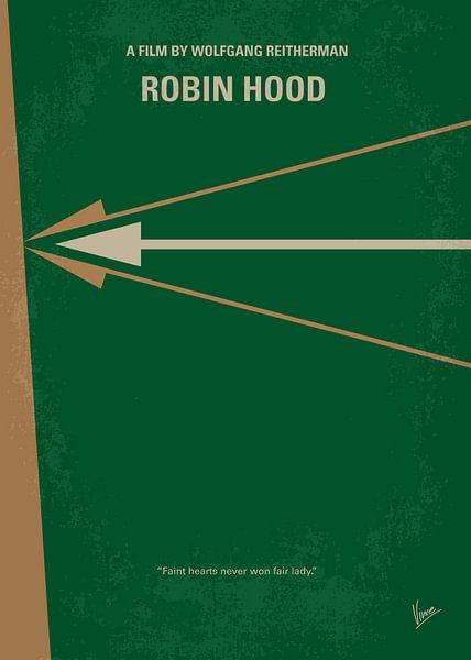 No237 My Robin Hood minimal movie poster van Chungkong Art