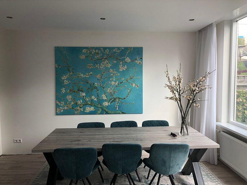 Kundenfoto: Mandelbaum in Blüte - Vincent van Gogh, auf leinwand