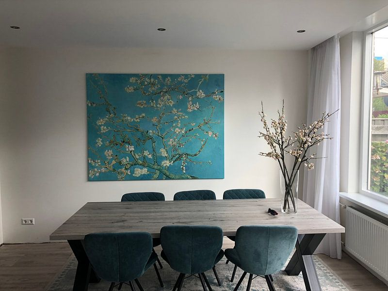 Photo de nos clients: Amandelbloesem schilderij van Vincent van Gogh, sur toile