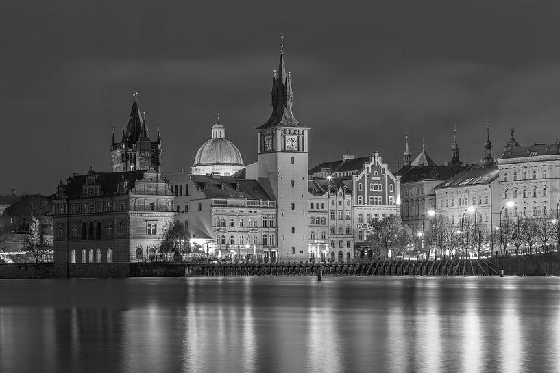 De oude stad van Praag in zwart-wit, Tsjechië  - 1 van Tux Photography