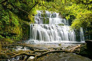 Purakaunui watervallen, Zuidereiland, Nieuw Zeeland van