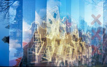 amsterdamse grachtenhuizen von MadebyGreet greetvanbreugel