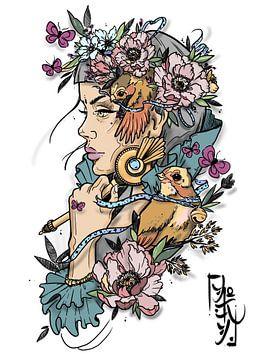 Schoonheid van Raindrop Tattoo