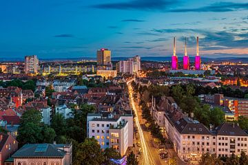 Zonsondergang in Hannover van Michael Abid
