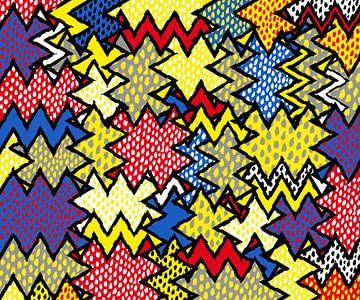 Kleurrijk Art Abstract van Marion Tenbergen