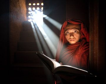Moine bouddhiste du Myanmar sur Tim Kreike