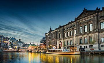 zicht op het Rokin in Amsterdam van Ivo de Rooij