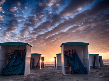 Strandhokjes van Dirk van der Plas