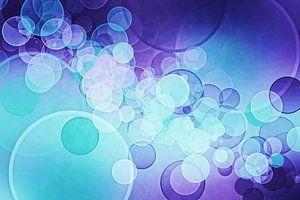 bokeh purple aqua blue