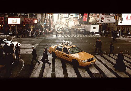 Yellow cab van