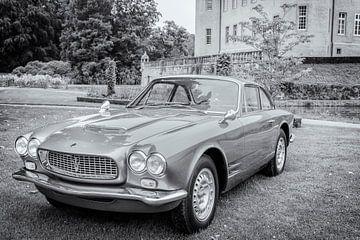 Maserati Sebring 3500 GTi klassischer italienischer Sportwagen in schwarz und weiß von Sjoerd van der Wal