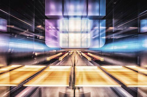 Hamburg - U-Bahnstation HafenCity Universität Zoomburst von Holger Debek