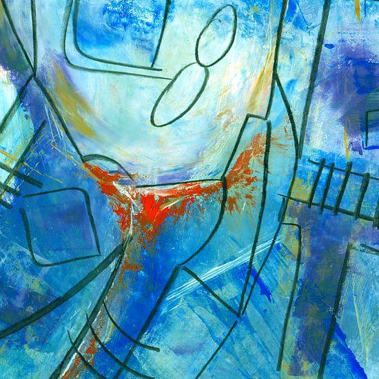 Abstract blue van Katarina Niksic