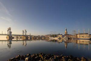 Kampen skyline in een gouden herfst ochtend #3