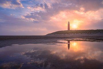 Prachtige lucht op Texel van Mark Bonnenberg