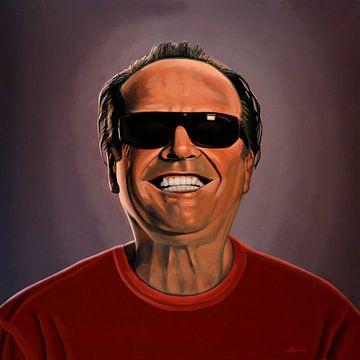 Jack Nicholson Schilderij 2 van Paul Meijering