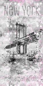 Graphic Art NEW YORK CITY Manhattan Bridge