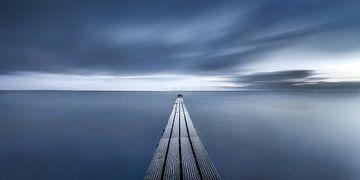 Kleiner Steg an der Ostsee schwarz-weiss von Fine Art Fotografie