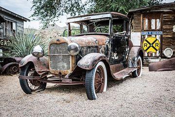 Oude Amerikaanse auto -  Ford van Els Broers