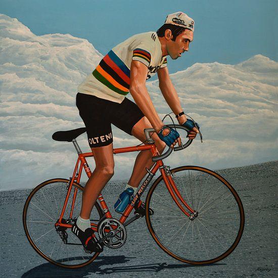 Eddy Merckx schilderij van Paul Meijering