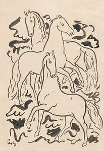 Drei Pferde von Eigenwijze Fotografie