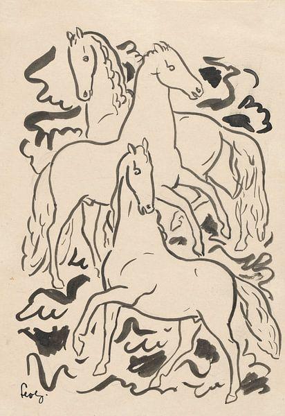 Trois chevaux sur Eigenwijze Fotografie