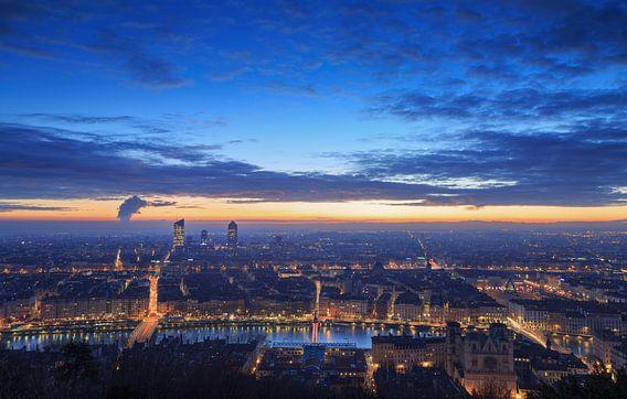 Lyon at dawn van Sander van der Werf